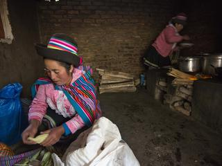 woman cooking in Peru