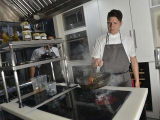 chef cooking in Peru