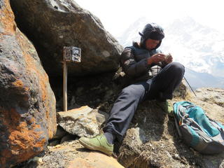 setting up gear to collar a snow leopard