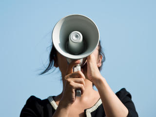 Woman on Megaphone