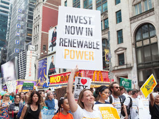 people march in support of climate action