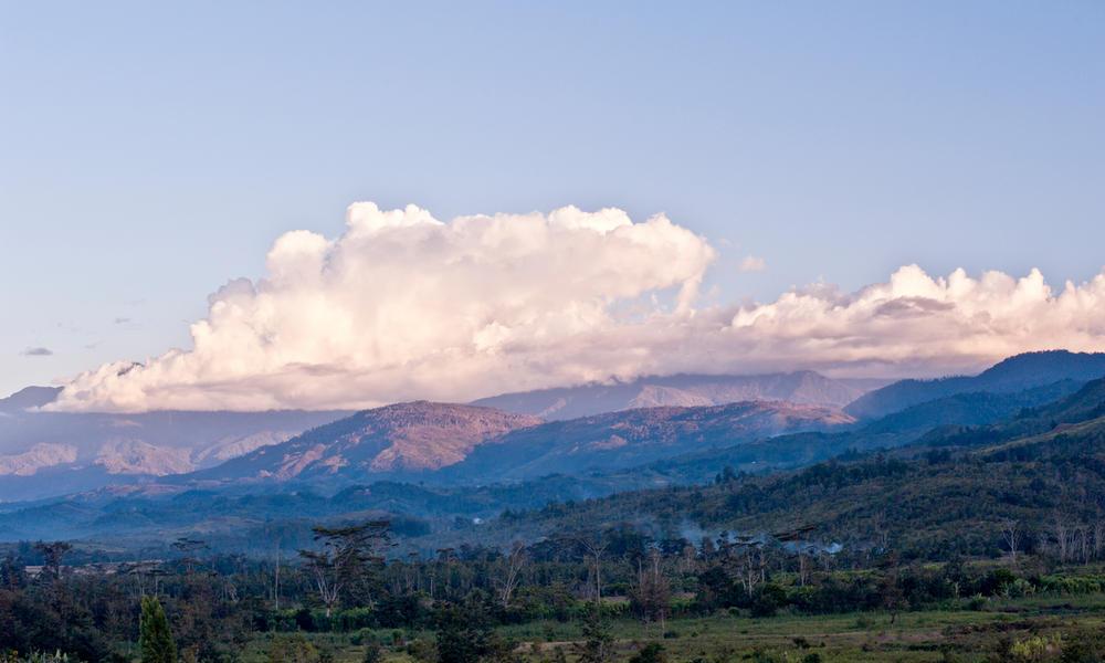 Landscape of Lorentz National Park, Papua Province, Indonesia.
