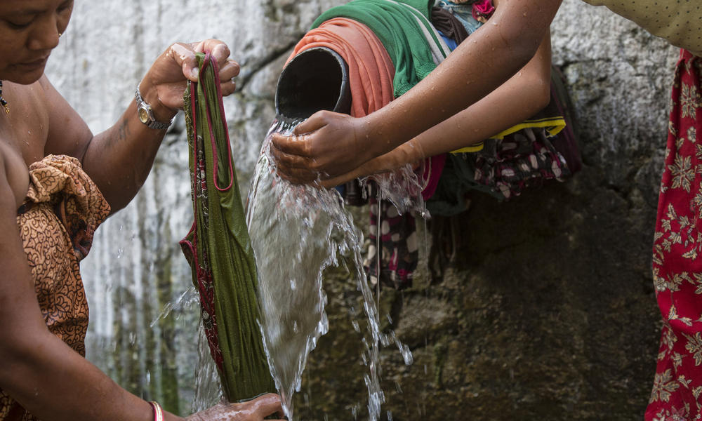 Women washing clothes in Nepal