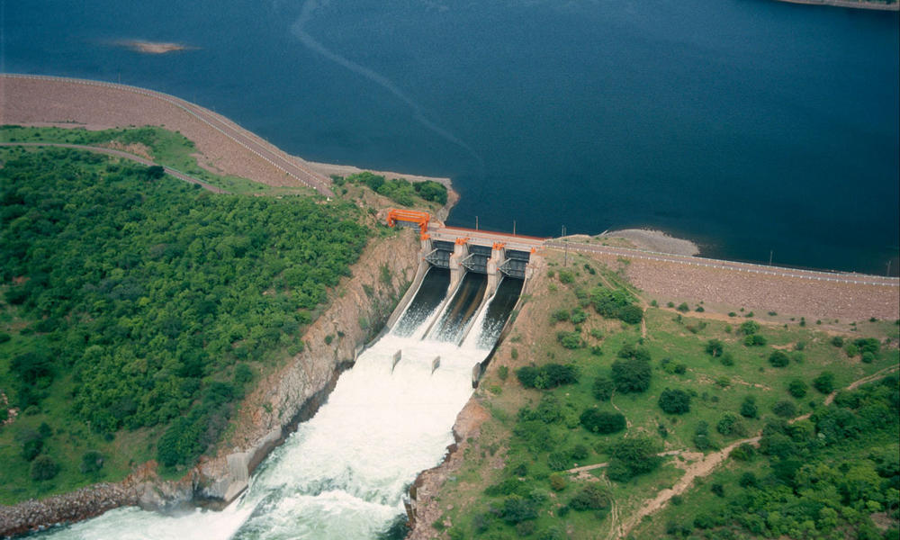 Dam at Kafue Flats, Zambia