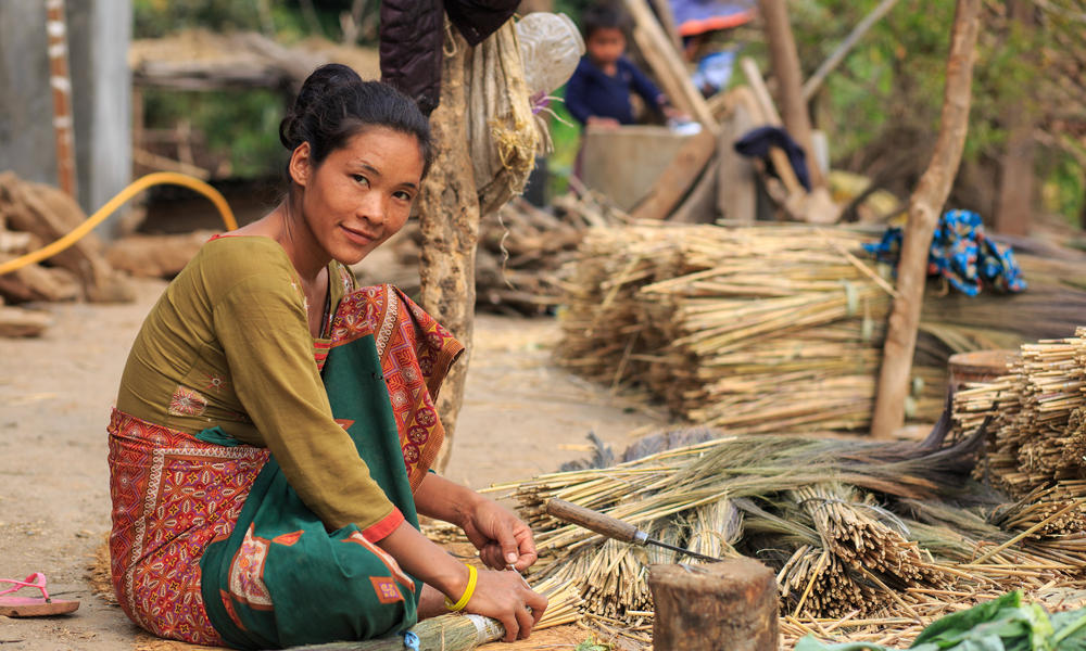 Broom grass transforms lives and hillsides in Nepal