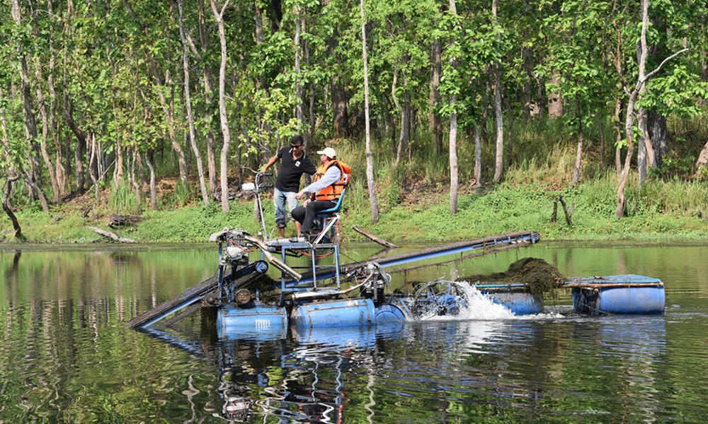 First-ever 'water mower' helps clear invasive plants