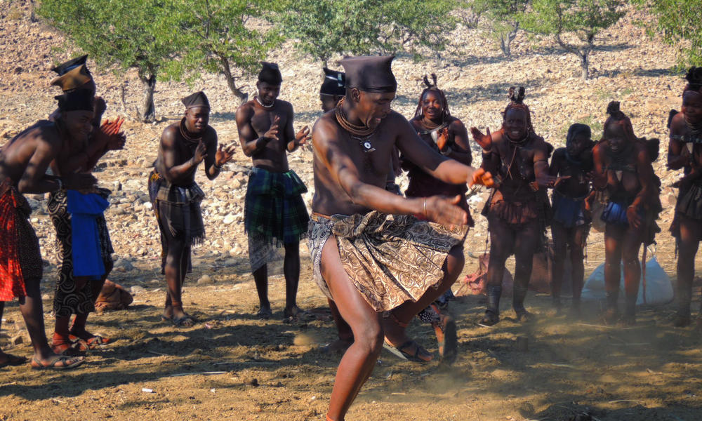 People in Namibia Dancing