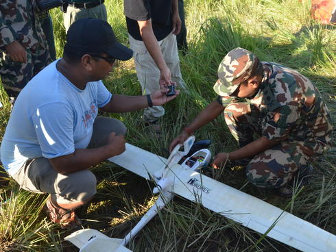 Programming a UAV in Nepal