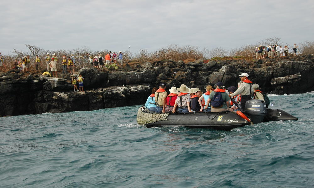 Tourists in the Galapagos