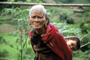 Tribal woman in Central Vietnam