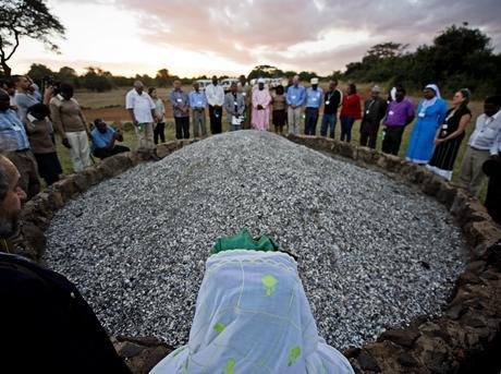 Faith leaders at ivory burn