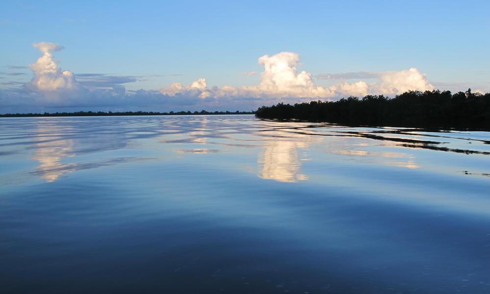 Sunset on Mozambique coastline