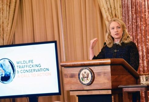 Secretary of State Clinton at Wildlife Trafficking partnership meeting