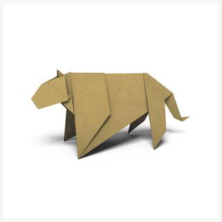 Jaguar origami