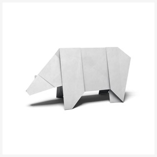 Polar bear origami