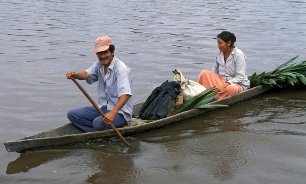 Two people on the Amazon