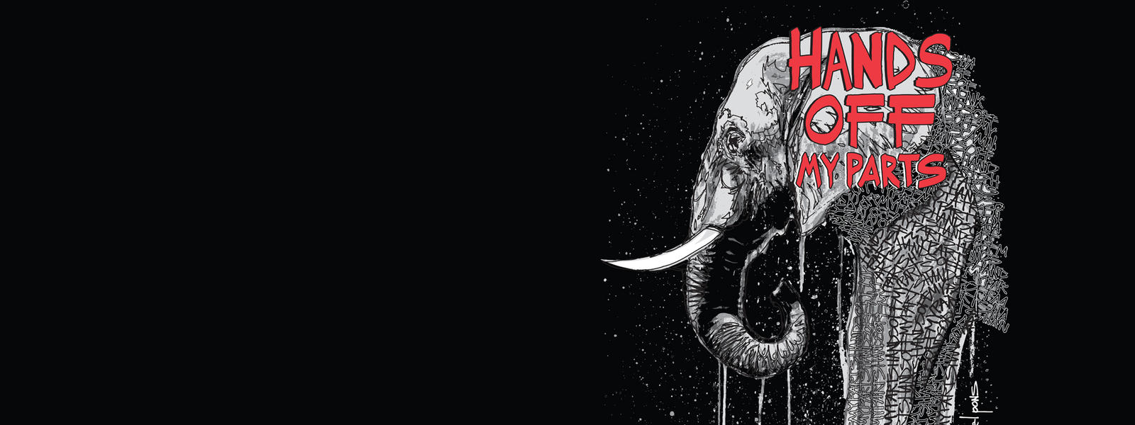 Hands off my parts (Elephant Graphic)