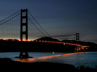 Golden Gate during Earth Hour 2008