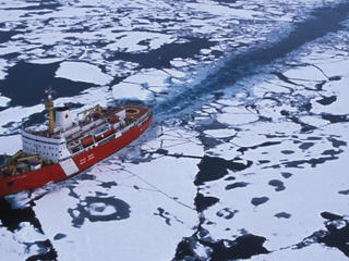 Ship in Arctic