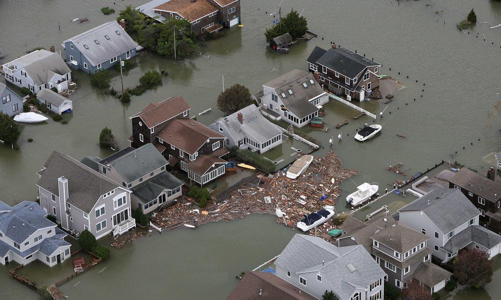 Hurricane Sandy damage in Seaside, N.J. on Tuesday, Oct. 30, 2012.