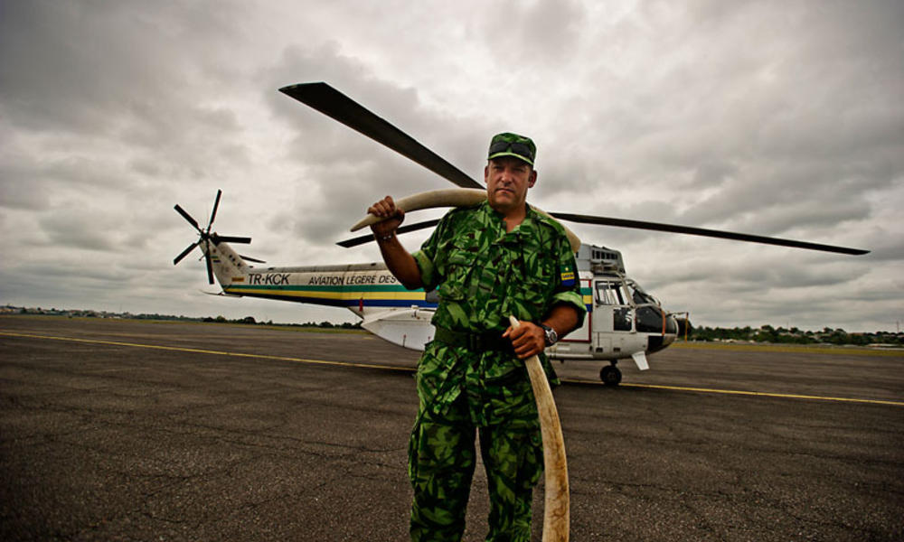 Ranger and helicopter