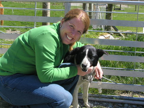 Leigh Henry and dog