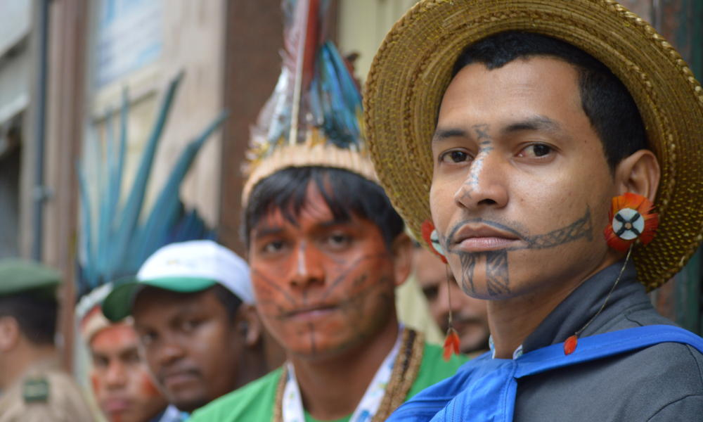 Adriano Carajas at World Youth Day, calling for protection of Amazon and its people