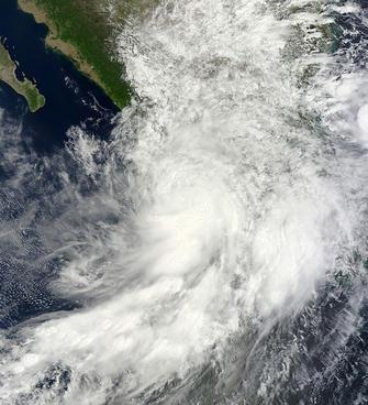 hurricane manuel above