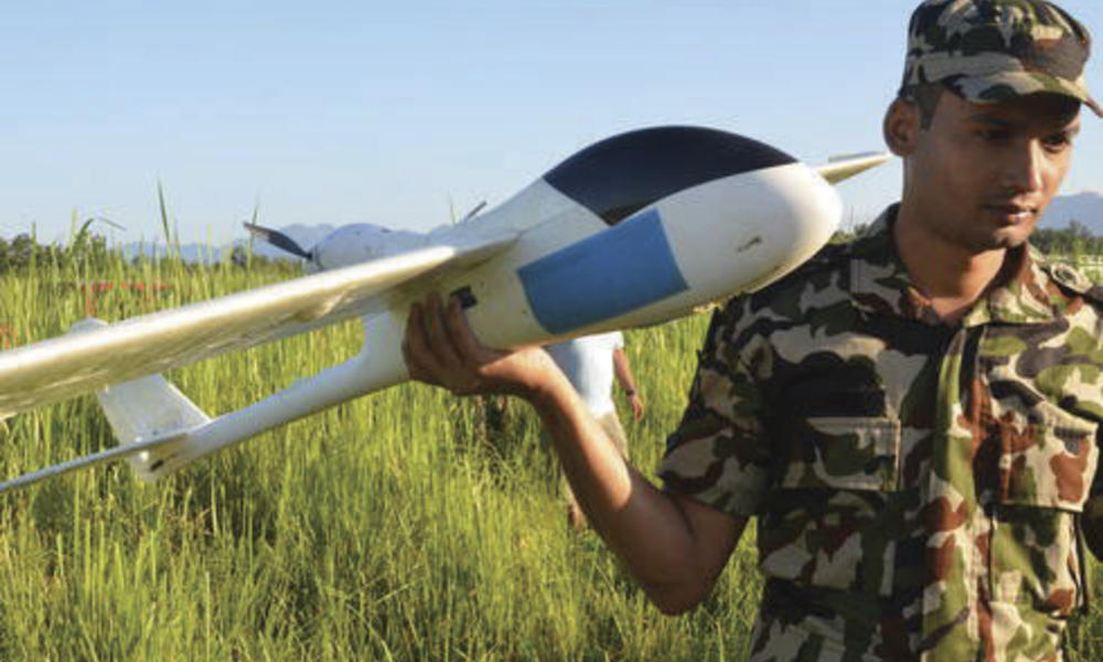 man with uav