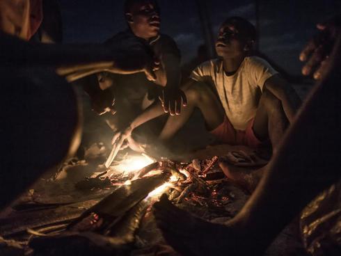 Fireside in Primeiras e Segundas, Mozambique