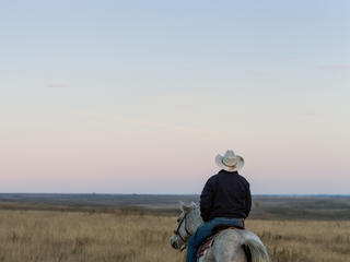 Rancher in Lowry, South Dakota