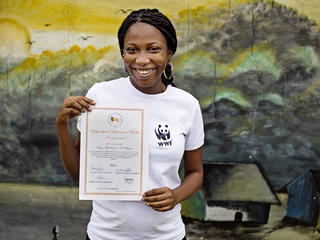 Gabon's Suzy Marleine Aboumgone Obame is testing a new approach to the bushmeat crisis in Central Africa while pursuing a master's degree in wildlife management.