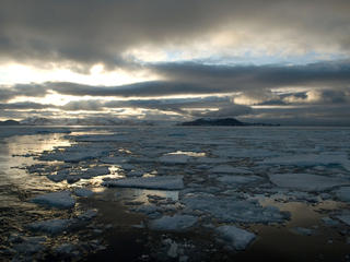 Climate change leads to the loss of sea ice in the Arctic, which leads to an increase in sea level rise.