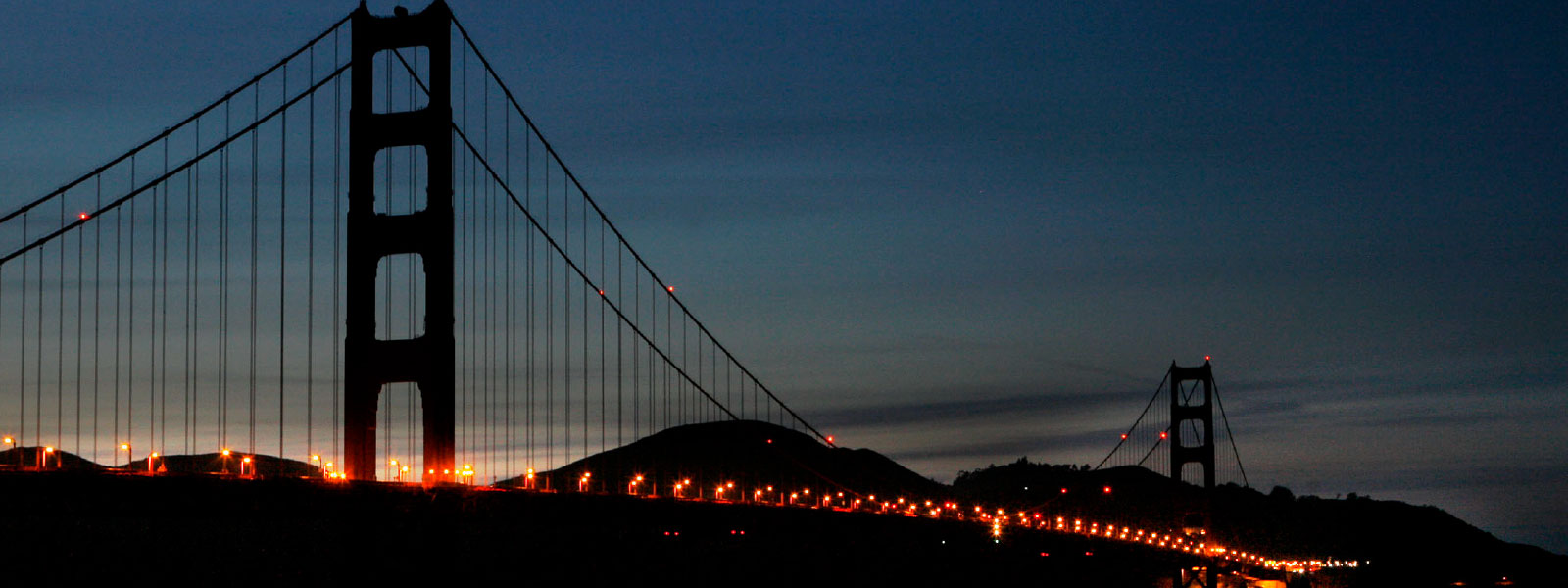 Golden Gate Bridge without lights