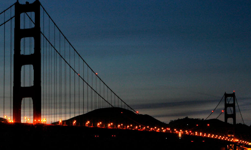 Golden Gate Bridge Off for Earth Hour