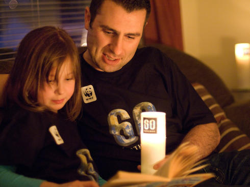 reading during earth hour