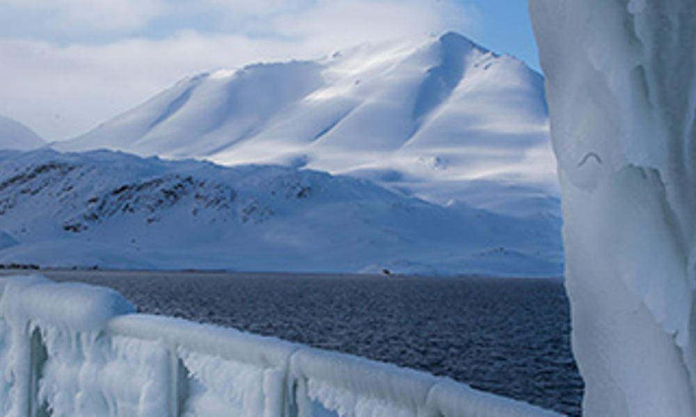 ice on boat
