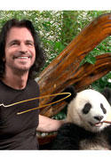 Yanni with panda