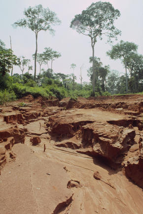 Soil erosion in Central African Republic