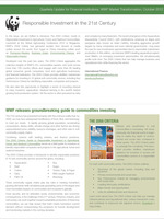 International Finance Newsletter: Responsible Investment in the 21st Century (October 2012) Brochure