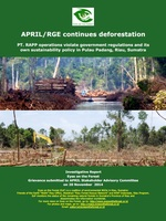 APRIL/RGE Continues Deforestation Brochure