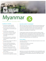 Myanmar Fellowship Guidelines 2017 Brochure