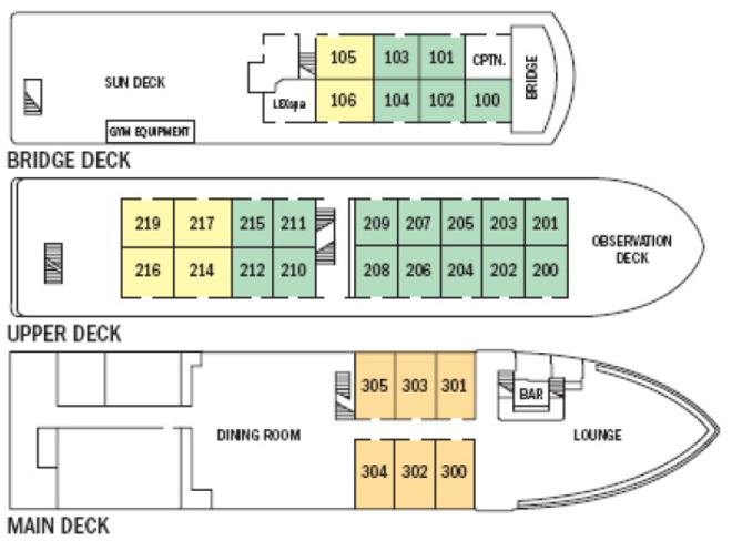 Sea lion deck plan